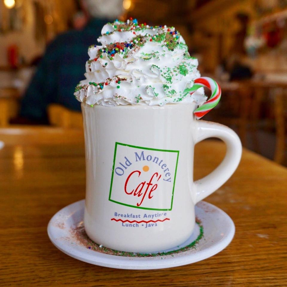christmas hot chocolate at old monterey cafe