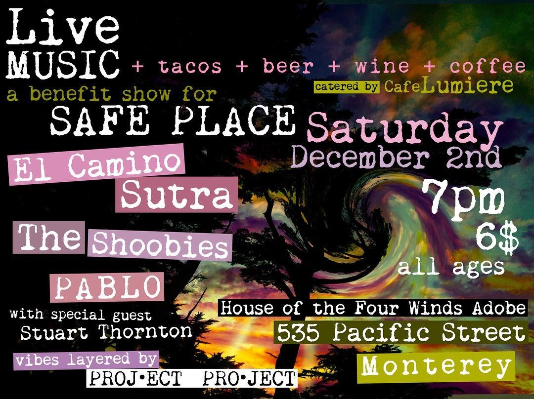 cafe lumiere invites you to join us at house of the four winds for an all ages benefit show for safe place on saturday december 2 at 7pm we ll have live