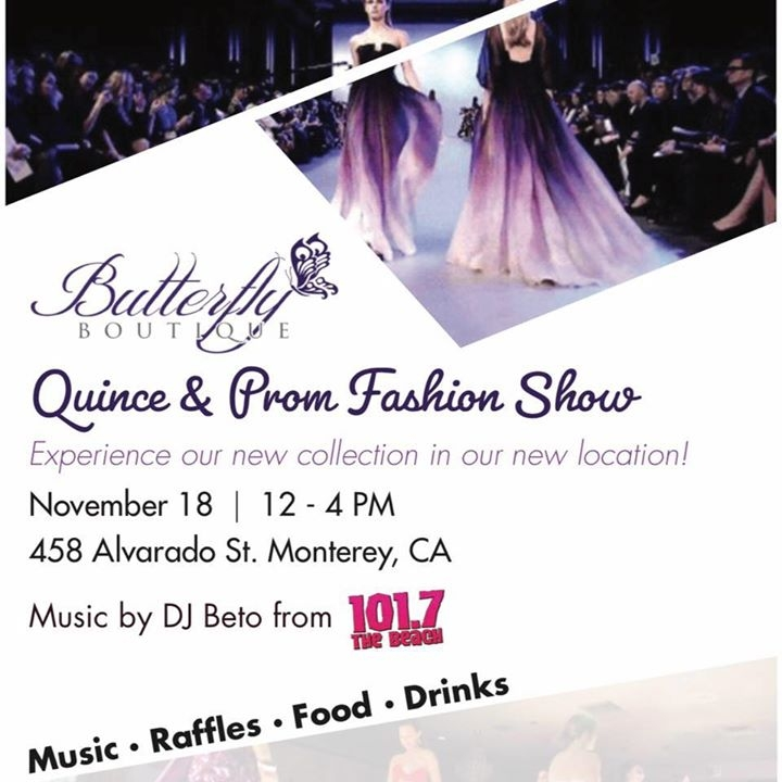 f1241c5230d Butterfly Boutique presents a Quinceañera and Prom Fashion Show on Sunday