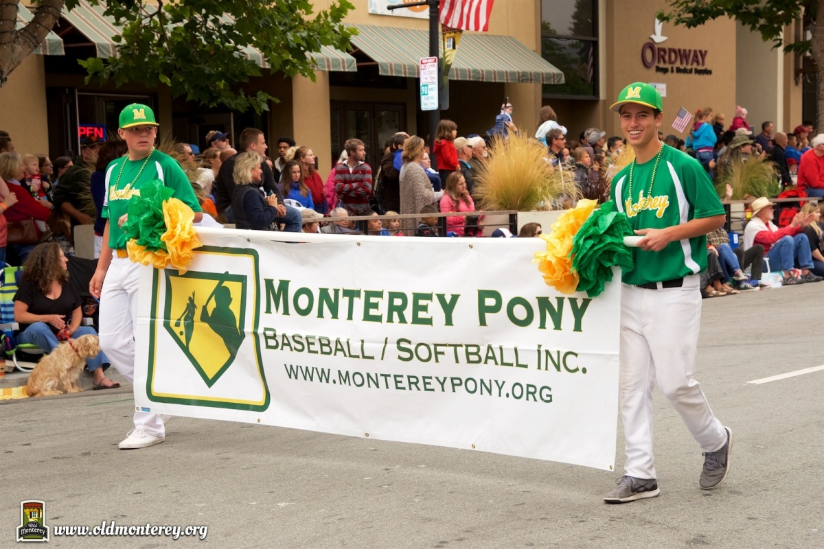 Monterey Pony Baseball and Softball in the Monterey 4th of